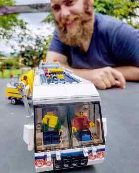 Henry and Lego RV van